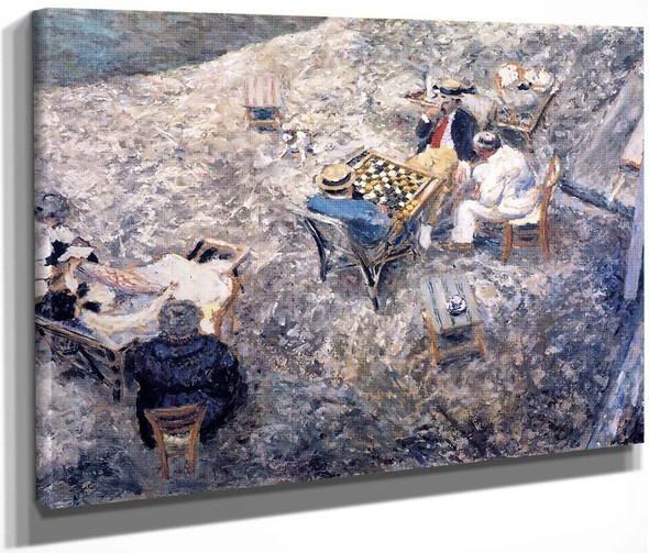 A Game Of Draughts By Edouard Vuillard