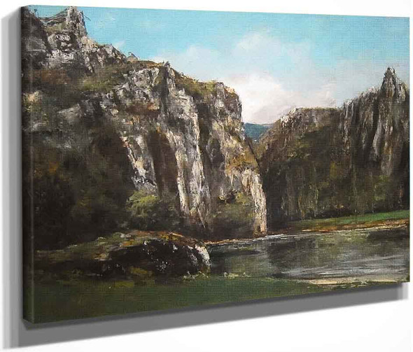 A Gorge In The Jura By Gustave Courbet By Gustave Courbet