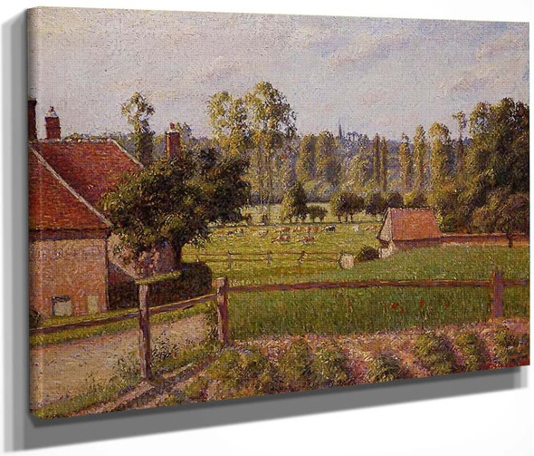 A Meadow In Eragny By Camille Pissarro By Camille Pissarro