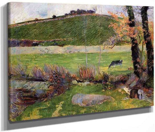A Meadow On The Banks Of The Aven  By Paul Gauguin  By Paul Gauguin