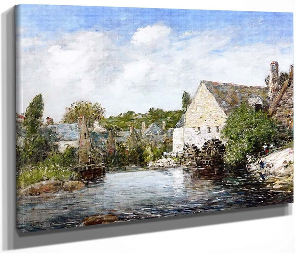 A Mill In Pont Aven By Eugene Louis Boudin By Eugene Louis Boudin