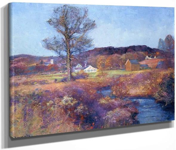 A New England Valley By Robert Vonnoh