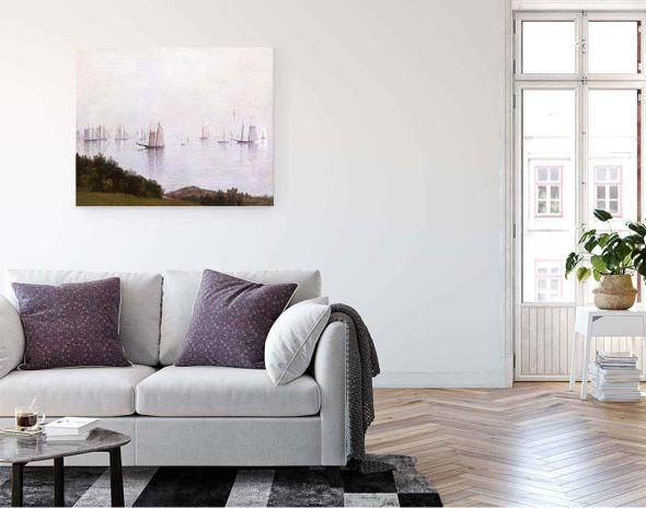 A Newport Afternoon By John Frederick Kensett By John Frederick Kensett