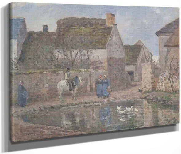 A Pond In Ennery By Camille Pissarro By Camille Pissarro