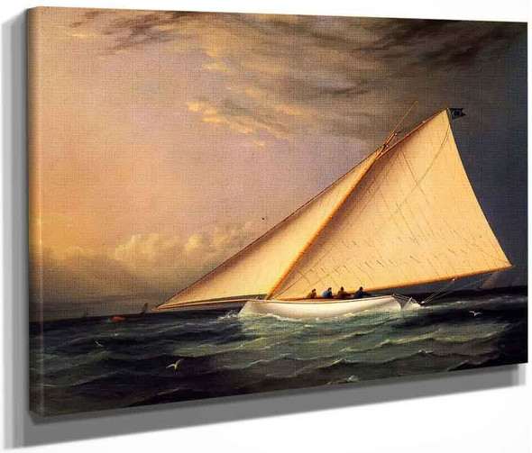 A Racing Yacht On The Great South Bay By James E. Buttersworth By James E. Buttersworth