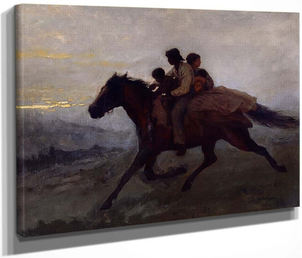 A Ride For Liberty The Fugitive Slaves By Eastman Johnson  By Eastman Johnson
