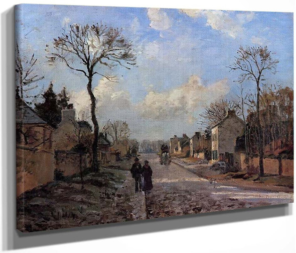 A Road In Louveciennes By Camille Pissarro By Camille Pissarro