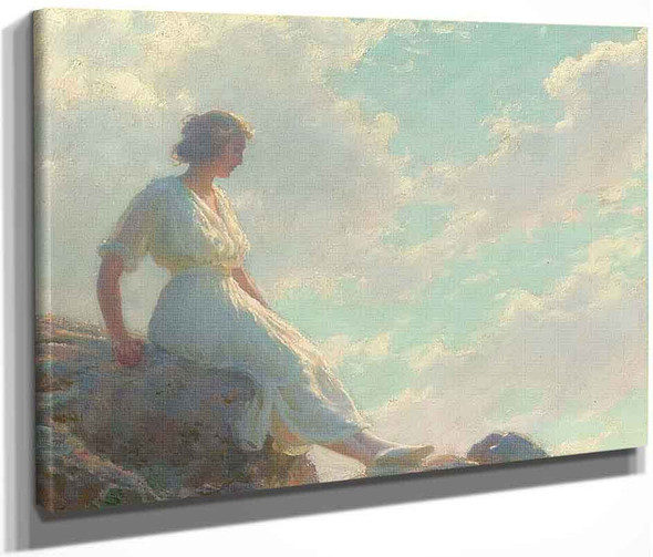 A Seat On The Summit By Charles Courtney Curran By Charles Courtney Curran