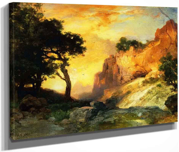 A Side Canyon, Grand Canyon, Arizona By Thomas Moran By Thomas Moran
