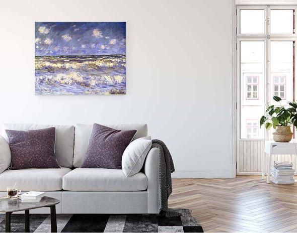 A Stormy Sea By Claude Oscar Monet