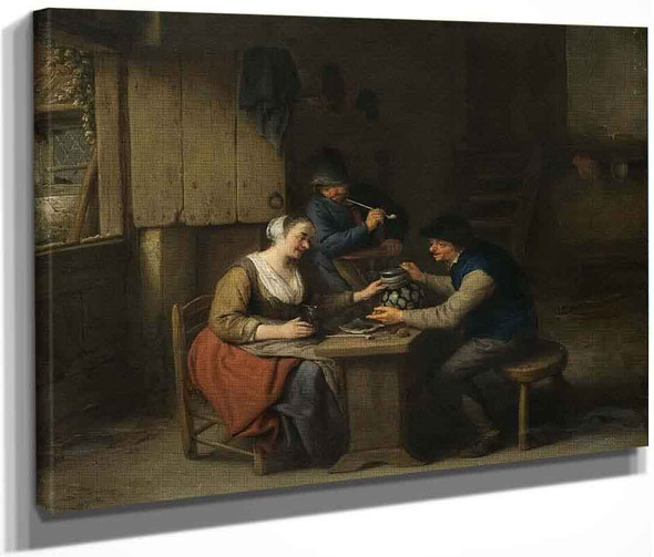 A Tavern Interior With Three Boors By Adriaen Van Ostade By Adriaen Van Ostade