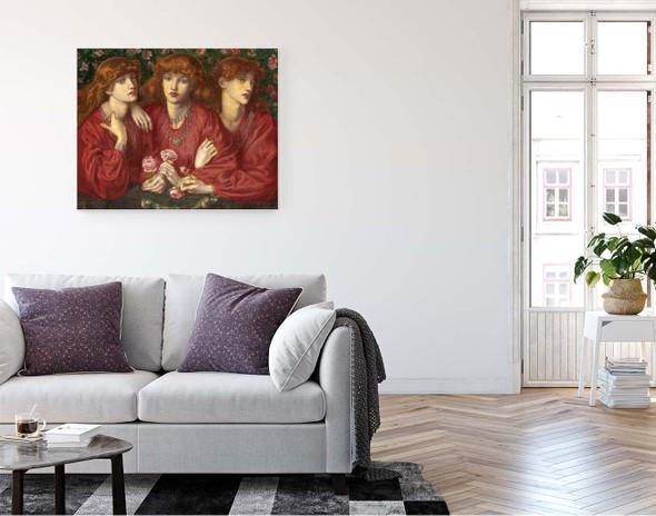 A Triple Portrait Of May Morris By Dante Gabriel Rossetti