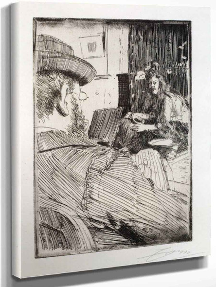 Albert Besnard And His Model By Anders Zorn