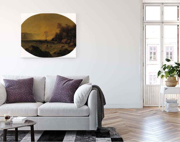 A View Of Niagara Falls By John Frederick Kensett By John Frederick Kensett