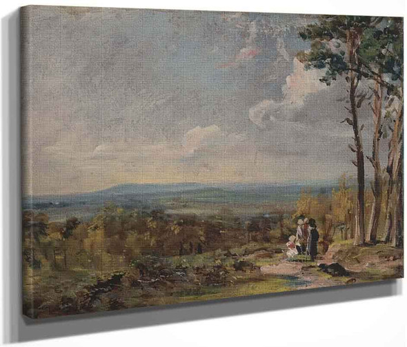 A View On Hampstead Heath With Figures In The Foreground By John Constable By John Constable
