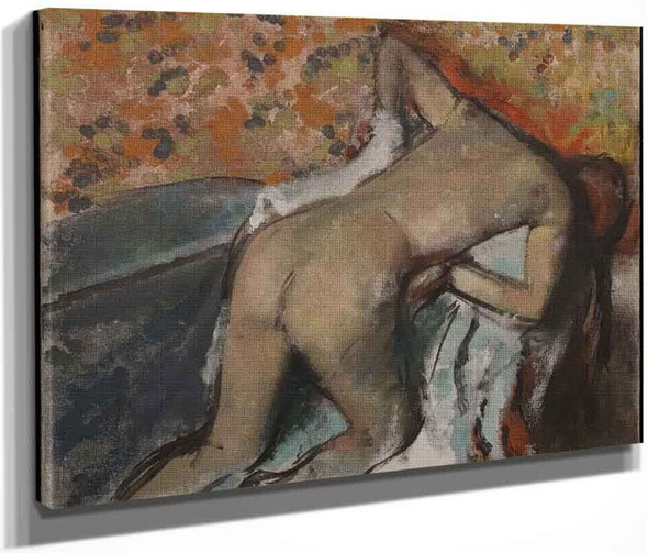 After The Bath, Woman Drying Herself2 By Edgar Degas By Edgar Degas