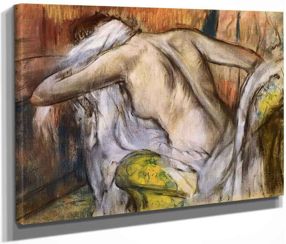 After The Bath, Woman Drying Herself4 By Edgar Degas By Edgar Degas