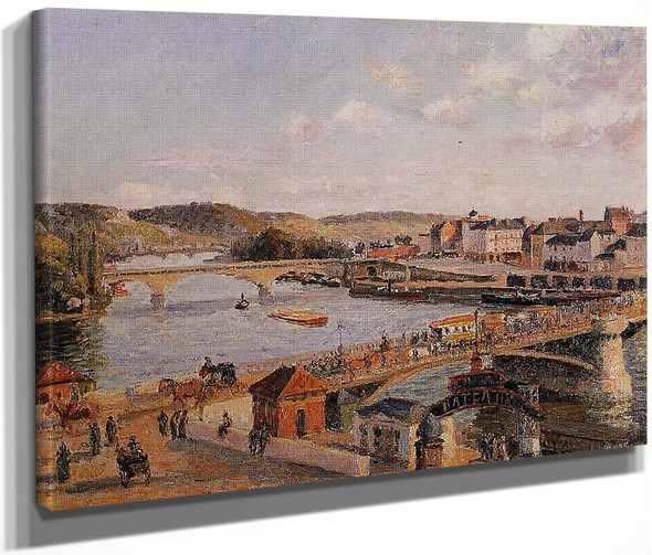 Afternoon, Sun, Rouen By Camille Pissarro By Camille Pissarro