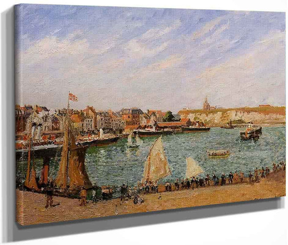 Afternoon, Sun, The Inner Harbour, Dieppe By Camille Pissarro By Camille Pissarro