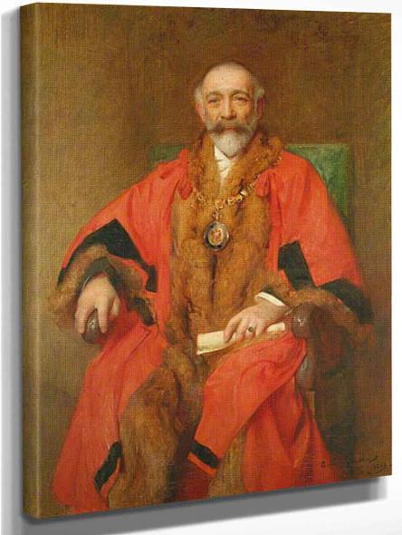 Alderman J. A. Skinner, Mayor Of Eastbourne By Arthur Hacker  By Arthur Hacker