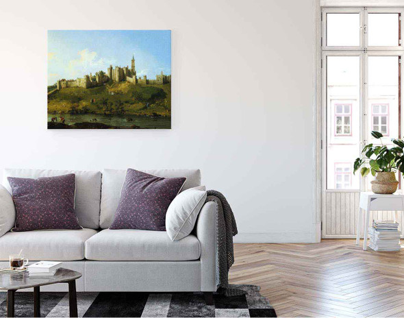 Alnwick Castle By Canaletto By Canaletto
