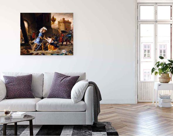 Amadis De Gaule Delivers A Damsel From Galpan's Castle By Eugene Delacroix By Eugene Delacroix