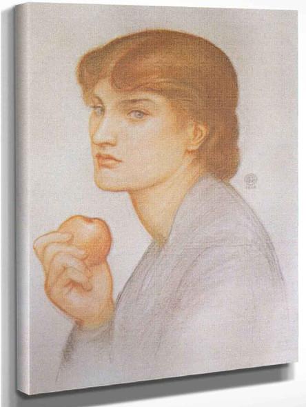 Alexa Wilding Holding An Apple By Dante Gabriel Rossetti