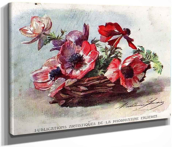Anemones By Madeleine Jeanne Lemaire