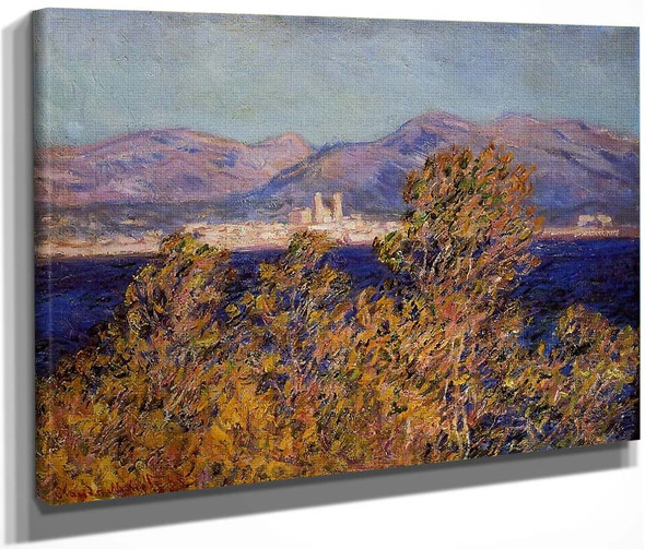 Antibes Seen From The Cape, Mistral Wind By Claude Oscar Monet