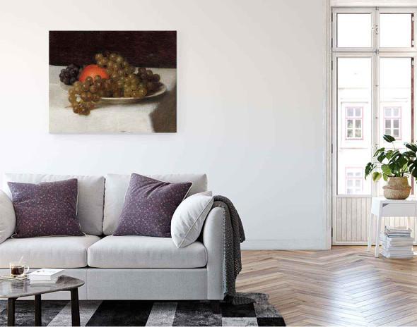 Apples And Grapes By Henri Fantin Latour By Henri Fantin Latour