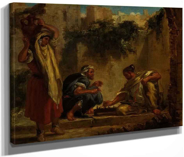 Arabs Playing Chess By Eugene Delacroix By Eugene Delacroix