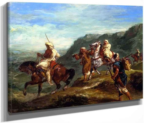 Arabs Traveling By Eugene Delacroix By Eugene Delacroix