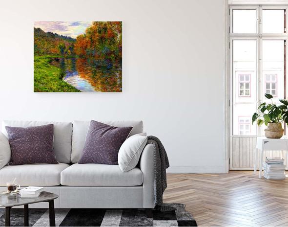 Arm Of The Jeufosse, Autumn By Claude Oscar Monet
