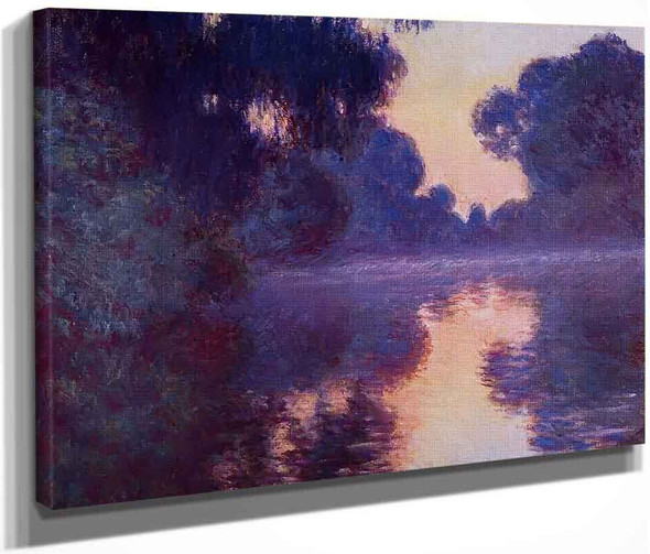 Arm Of The Seine Near Giverny At Sunrise By Claude Oscar Monet