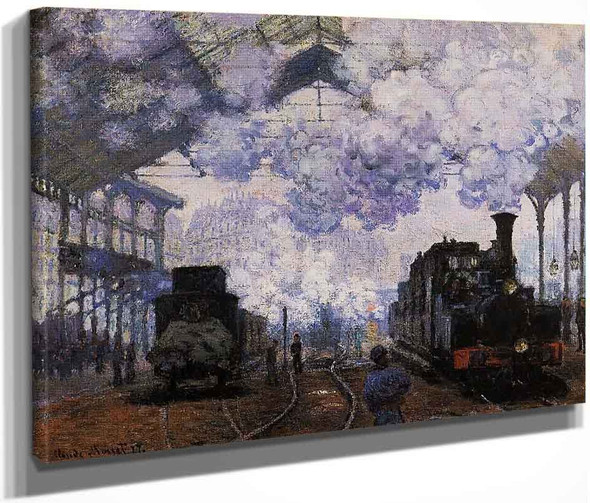 Arrival At Saint Lazare Station By Claude Oscar Monet