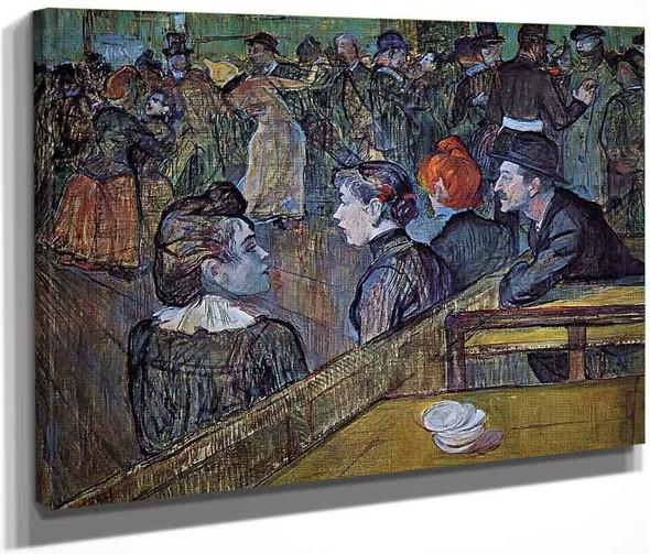 At The Moulin De La Galette Dance Hall By Henri De Toulouse Lautrec