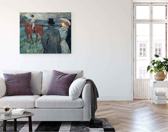 At The Races By Henri De Toulouse Lautrec