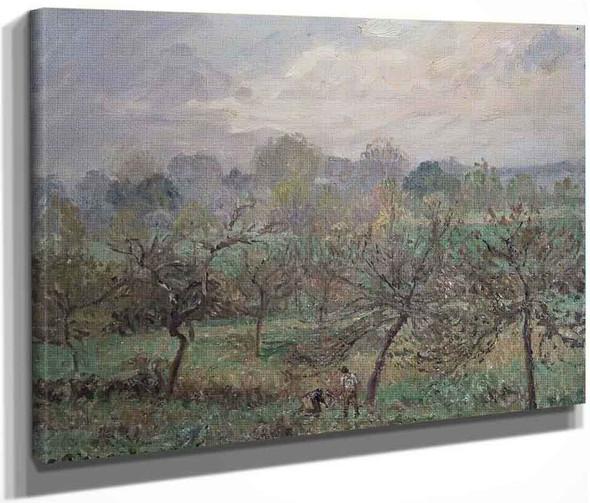 Autumn, Morning Mist, Eragny Sur Epte By Camille Pissarro By Camille Pissarro