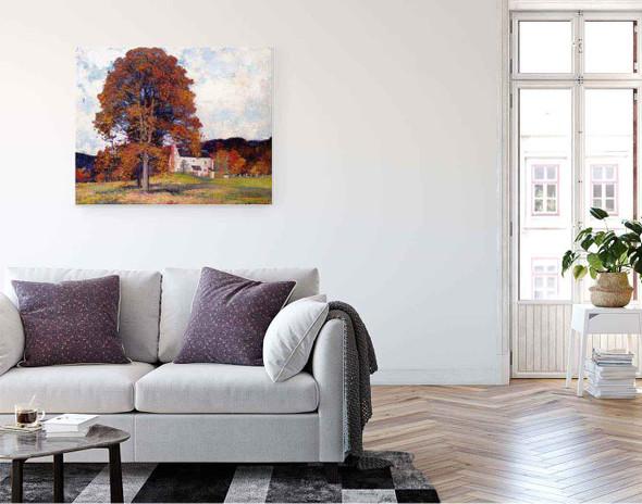Autumn Hillside & My Studio By Robert Vonnoh