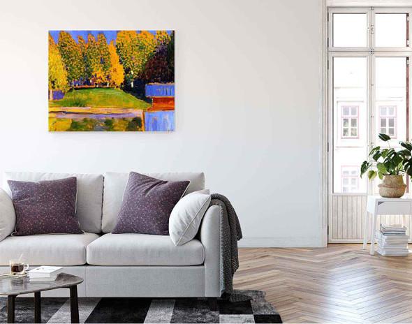 Autumn Landscape By Alexei Jawlensky By Alexei Jawlensky