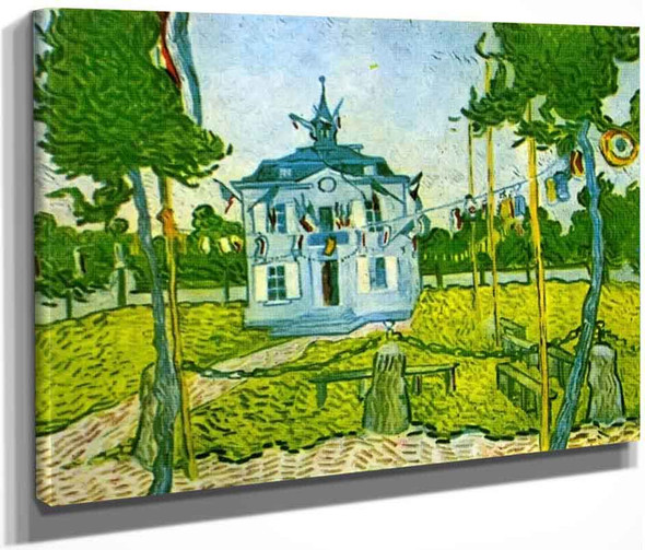 Auvers Town Hall In 14 July 1890 By Vincent Van Gogh