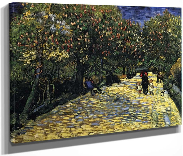 Avenue With Flowering Chestnut Trees By Vincent Van Gogh