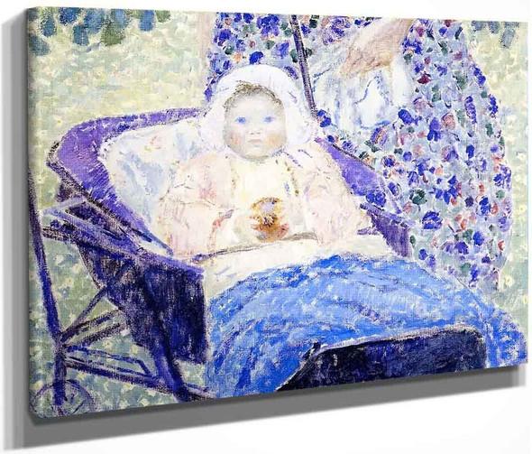 Baby In Pram By Frederick Carl Frieseke By Frederick Carl Frieseke