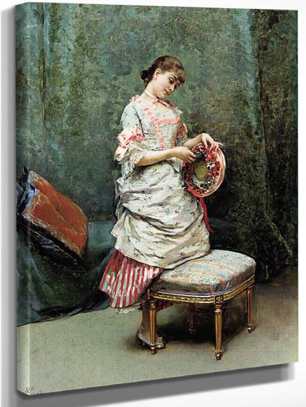 Aline Holding A Hat By Raimundo De Madrazo Y Garreta