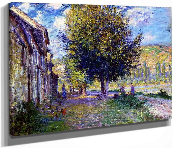 Banks Of The Seine At Lavacourt By Claude Oscar Monet