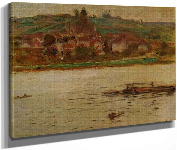 Barge On The Seine At Vetheuil By Claude Oscar Monet