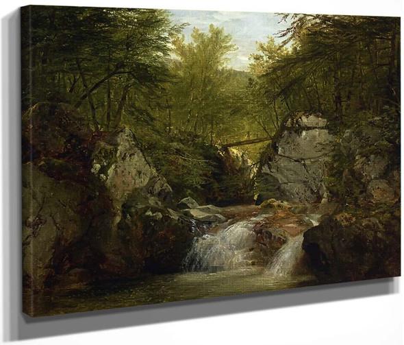 Bash Bish Falls2 By John Frederick Kensett By John Frederick Kensett