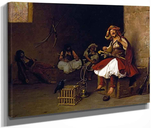 Bashi Bazouk Singing By Jean Leon Gerome  By Jean Leon Gerome
