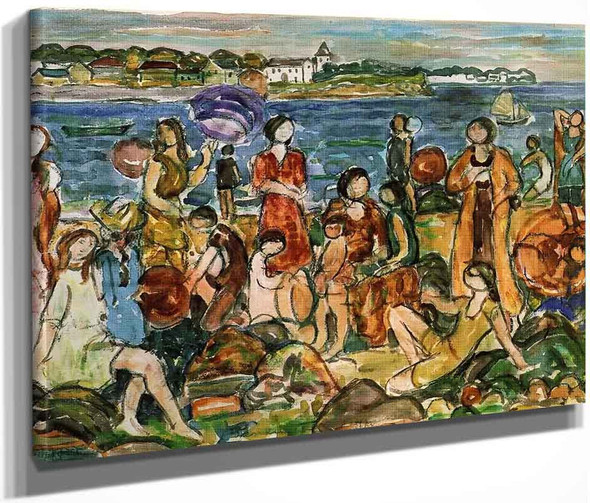 Bathers, New England By Maurice Prendergast By Maurice Prendergast