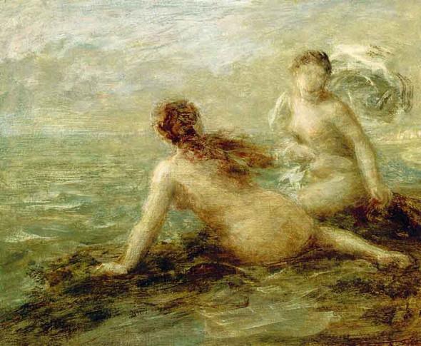 Bathers By The Sea By Henri Fantin Latour By Henri Fantin Latour